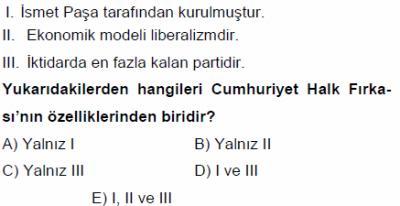 KPSS Tarih Atatürk inklapları Soruları