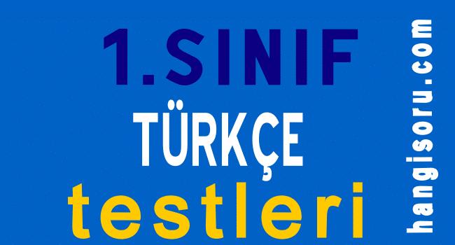 1. sınıf Türkçe testleri