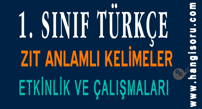 1 Sinif Turkce Es Anlamli Kelimeler Etkinligi Indir