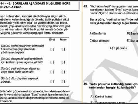 2011 KPSS ÖLÇME VE DEĞERLENDİRME SORULARI-1