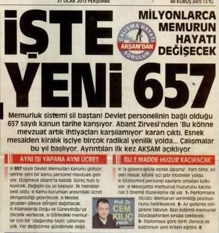 657 kanunu