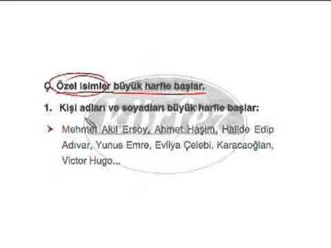 8. Sınıf Türkçe Yazım Kuralları Konu Anlatımı