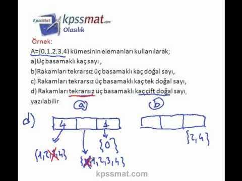 KPSS Olasılık konusu ile ilgili örnek soru çözümleri