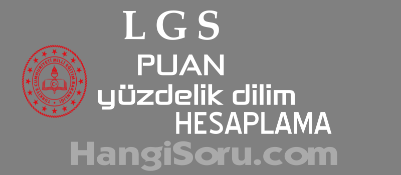 LGS Puan Hesaplama MEB – Yüzdelik Dilim