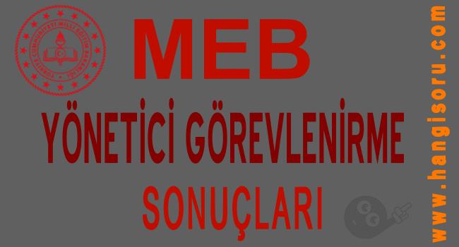 2019 MEB Yönetici Görevlendirme Sonuçları Açıklanan İller