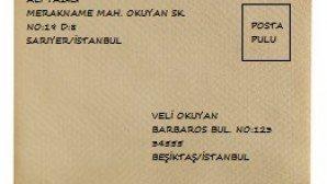 Posta ile yazışmalar için bir zarf doldurma