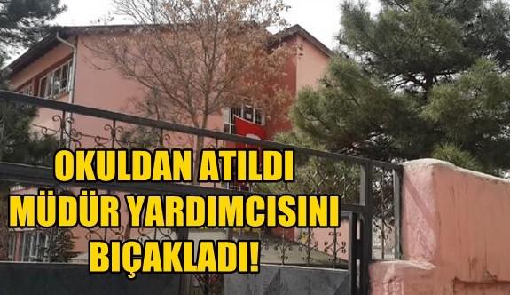 Okuldan Atılınca Müdür Yardımcısını Sırtından Vurdu!