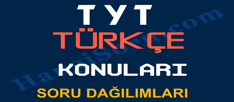 TYT Türkçe Konuları ve Soru Dağılımı (ÖSYM)