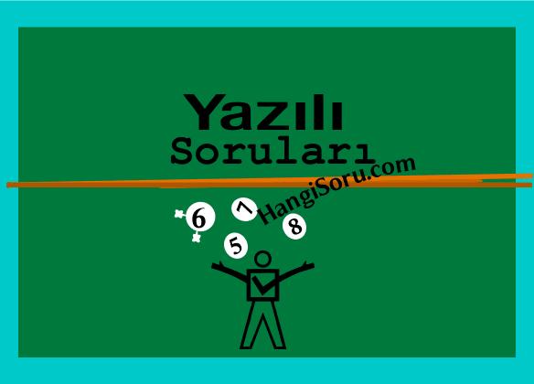 5. Sınıf Türkçe 2. Dönem 3. Yazılı Soruları İNDİR